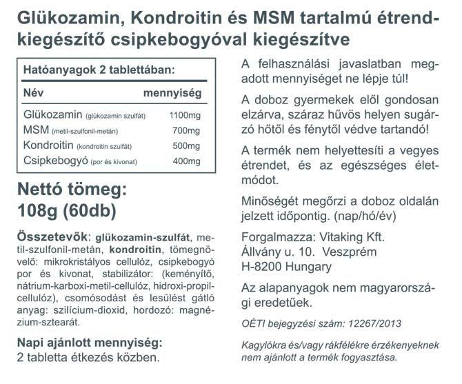 glükozamin kondroitin tetején)